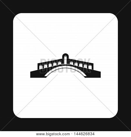 Round bridge icon in simple style isolated on white background. Construction symbol