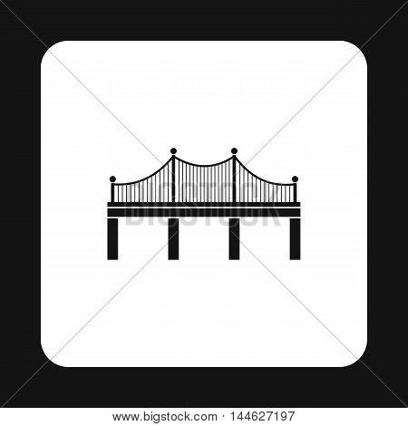 Iron bridge icon in simple style isolated on white background. Construction symbol