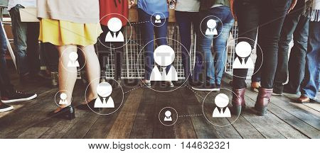 Global Communications Connection Corporate Technology Concept