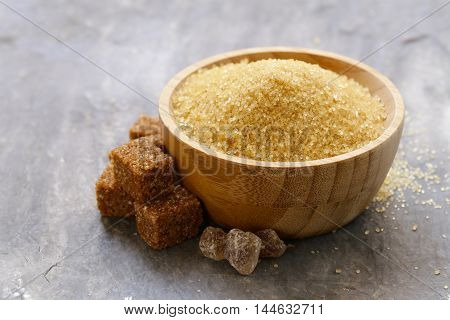 brown cane sugar (refined sugar and granulated sugar)