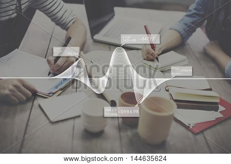 Statistic Analysis Business Data Diagram Graph Concept