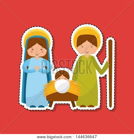 manger characters isolated icon vector illustration design