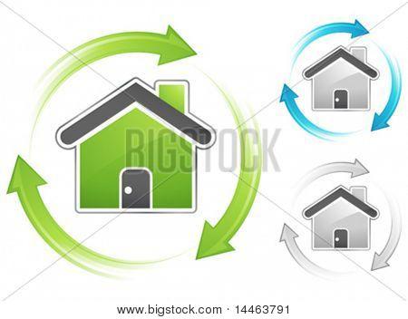 Conceito de casa verde