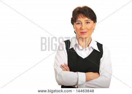 Mature Businesswoman With Copy Space