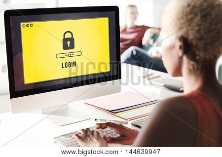 Lock Icon Password Protected Graphic Concept