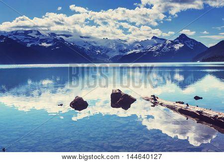Hike on Garibaldi Lake near Whistler, BC, Canada.