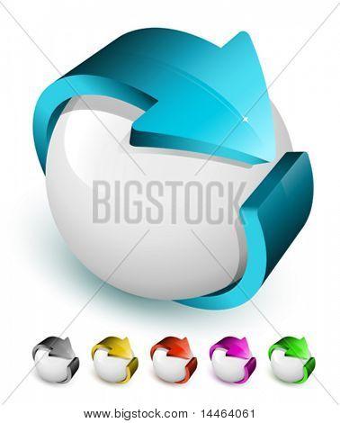 three-dimensional icons