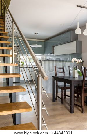 Functional Villa Interior In Grey