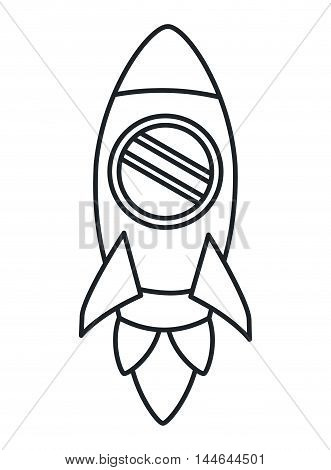 rocket startup launcher isolated icon vector illustration design