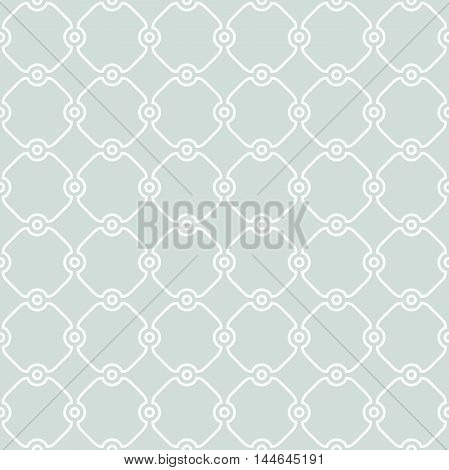 Seamless vector light blue and white ornament in arabian style. Pattern for wallpapers and backgrounds