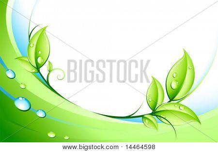 abstrakt und Blätter