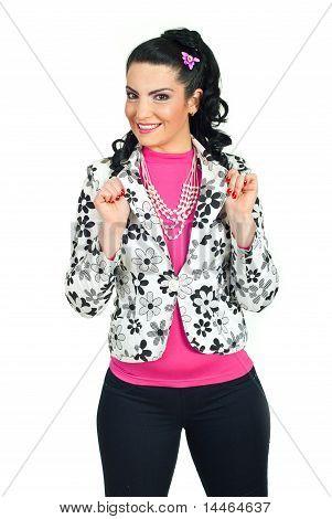 Happy Fashion Model Posing