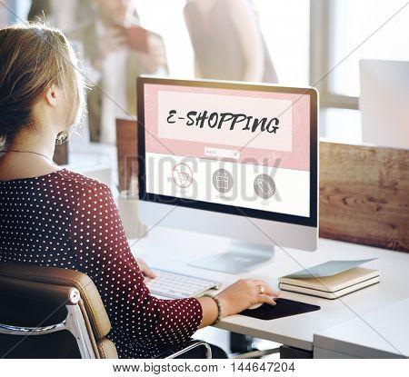 E-shopping Buy Online Internet Store Concept