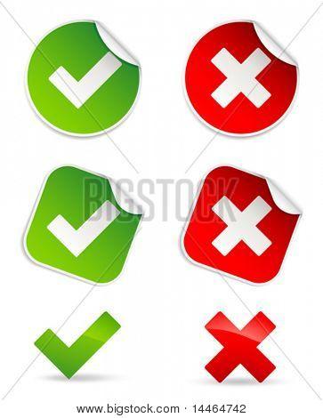 Iconos de validación