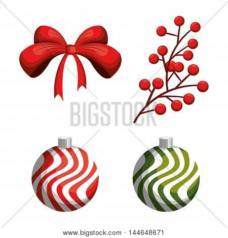 merry christmas ball decoration icon vector illustration design