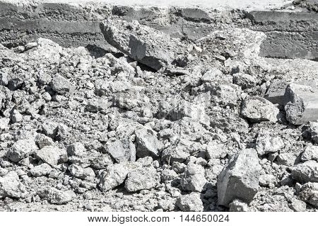 Texture, Background. Construction Garbage