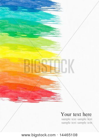 abstract water color background paint with the various color brush
