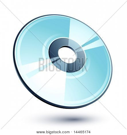 Shiny Blue Compact Disk