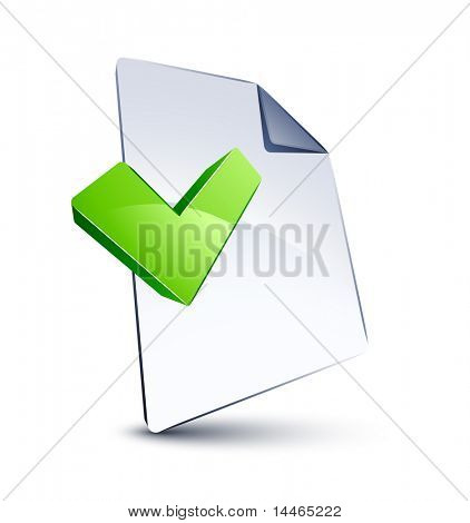 File and V shape