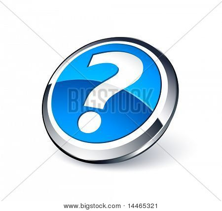 Blue question button