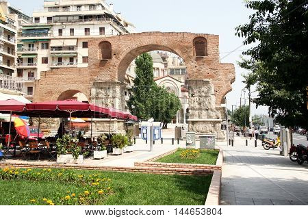 Thessaloniki the Arch of Roman emperor Galleries. Greece