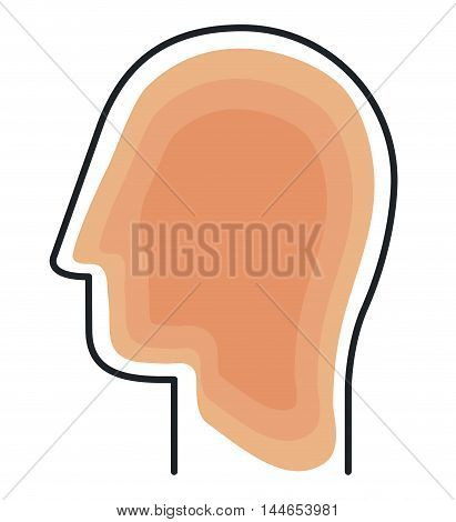 young man profile isolated icon vector illustration design