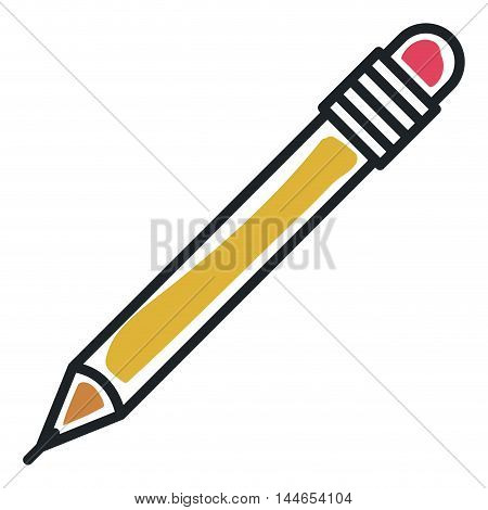 pencil tool office isolated icon vector illustration design