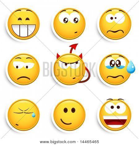 Conjunto de emoticons