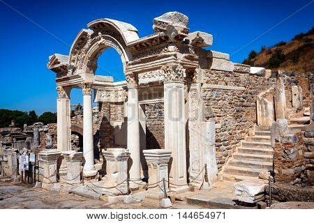 Temple of Hadrian in Ephesus ancient City