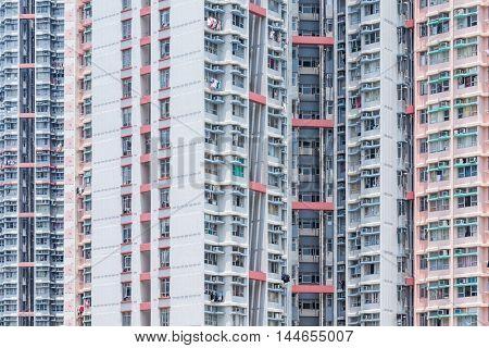 Facade of a apartment building