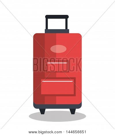 suitcase bag briefcase icon vector illustration design