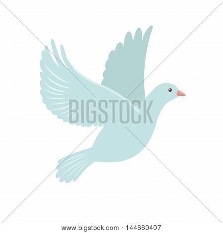 Dove Icon in flat style isolated on white background. Vector illustration.