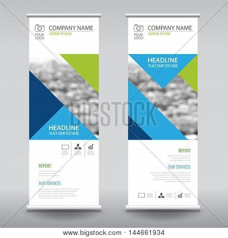 Roll Up Business Brochure Flyer Banner Design Vertical Template Vector, Cover Presentation Abstract