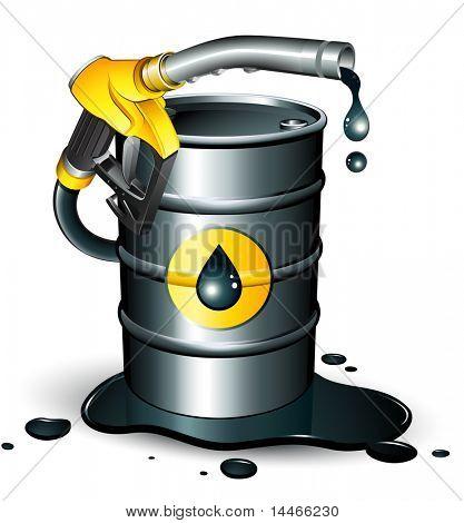 barril de boquilla y aceite de bomba de gas