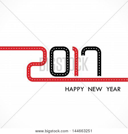 201 and 7 with holiday background concept.Happy new year 2017 holiday background.2017 Happy New Year greeting card.Vector illustration