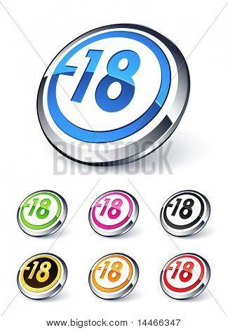 icon explicit content -18