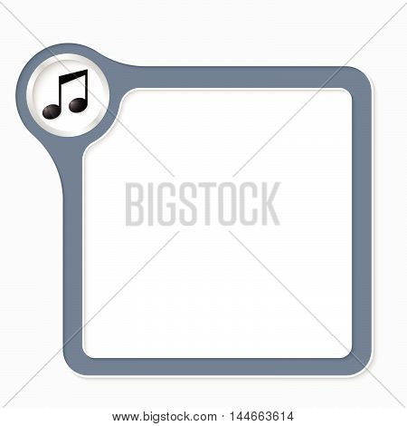 Vector frame for your text and symbol of music