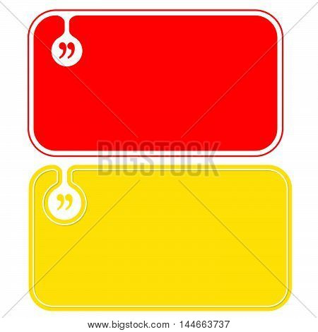 Colored business cards and square brackets symbol