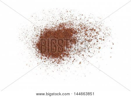 Brown eye shadow isolated on white