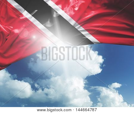 Trinidad and Tobago flag on a beautiful day
