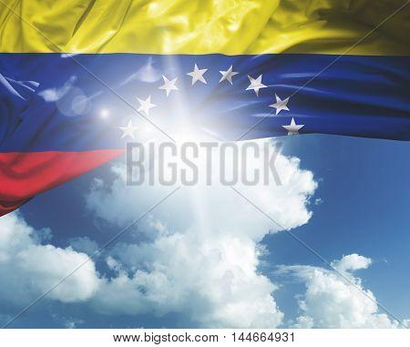 Venezuela flag on a beautiful day