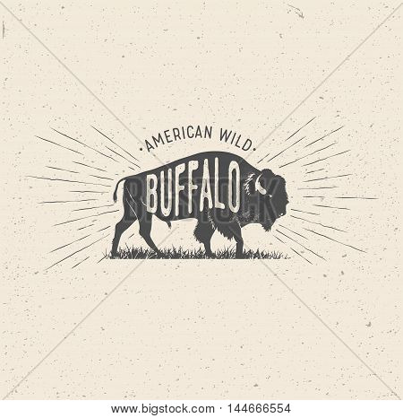 bison, buffalo, outdoor, america, stamp, western, vector, sign, symbol, traditional, premium, authentic, illustration, artwork, design, quality, banner, art, bull, vintage, style, background, wild, superior, sport, american, shirt, font, graphic, handmade