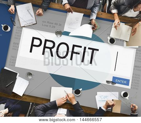 Profit Analytics Strategy Solution Business Concept