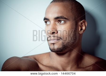 Beautiful black man portrait