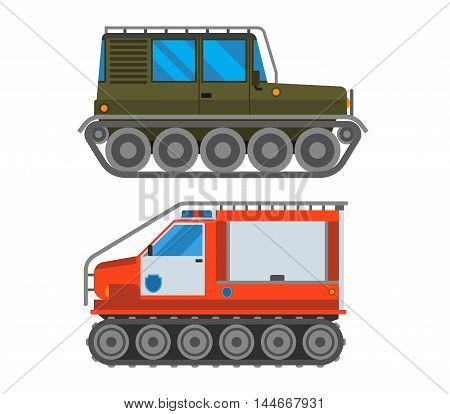 Army vector car and military cross-country vehicle transport. Army military auto world truck machine and cross-country vehicle. Camouflage american military vehicle machine cross-country vehicle
