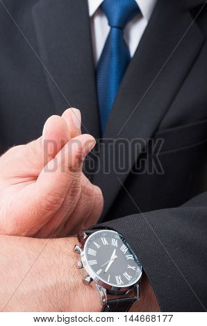 Professional Lawyer Doing Money Gesture