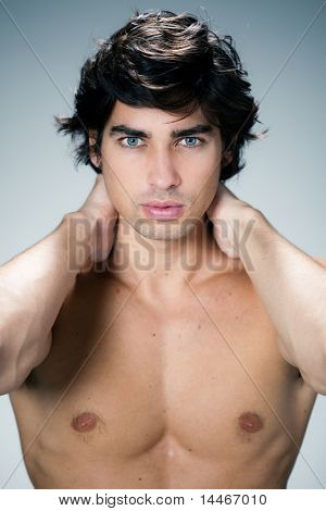 beautiful caucasian man portrait
