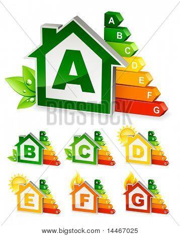 iconos de la energía en el hogar