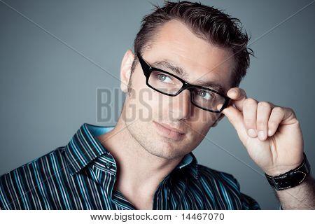 caucasian mann Portrait mit Brillen