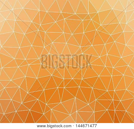 Vector Background With Orange Triangles